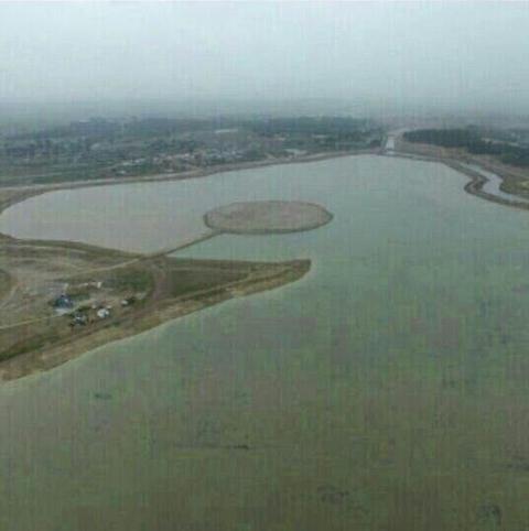 دریاچه شهرک مغان آبگیری شد