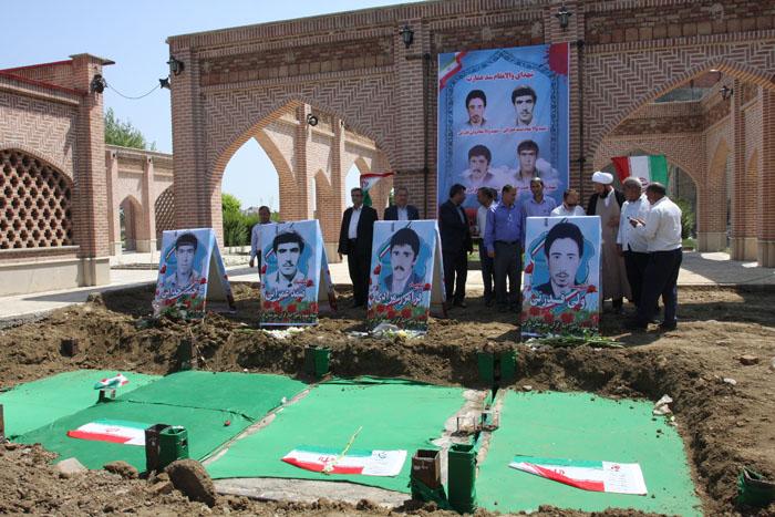 مزار چهار شهید روستای عمارت به پارس آباد منتقل شد+تصاویر