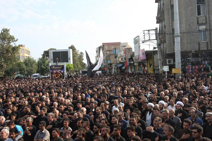 برگزاری اجتماع عظیم عزاداران حسینی در پارس آباد+تصاویر